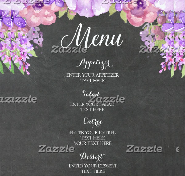 vintage chalkboard wedding menu