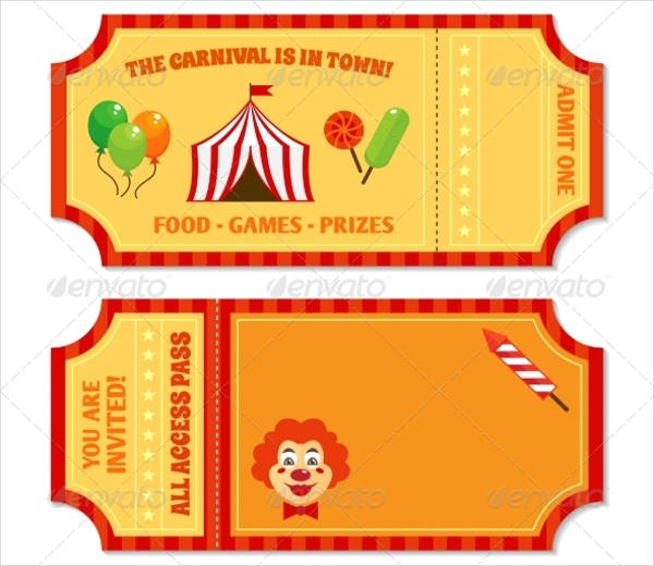 vintage circus ticket template1