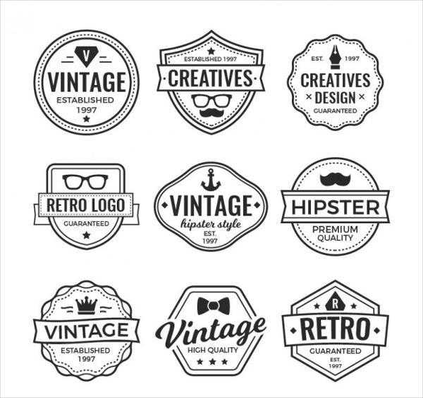 vintage company vector logo