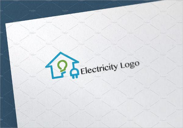 vintage electrical logo template