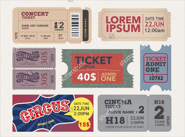 vintage entrance ticket template