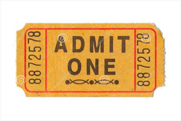 vintage entrance ticket template1