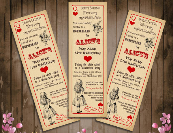 vintage party ticket template