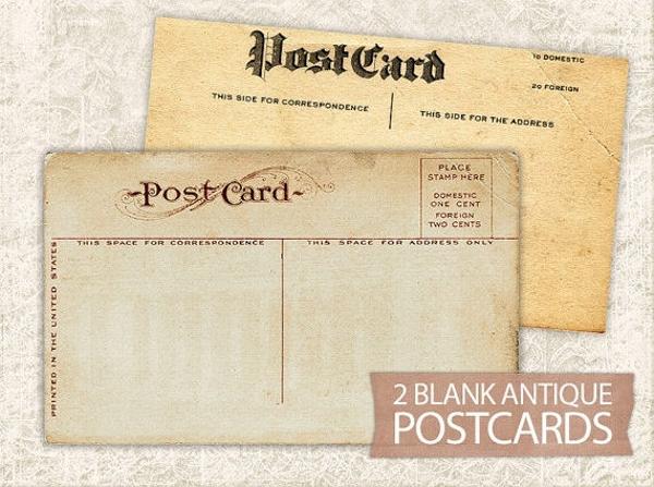 vintage postcard digital paper1