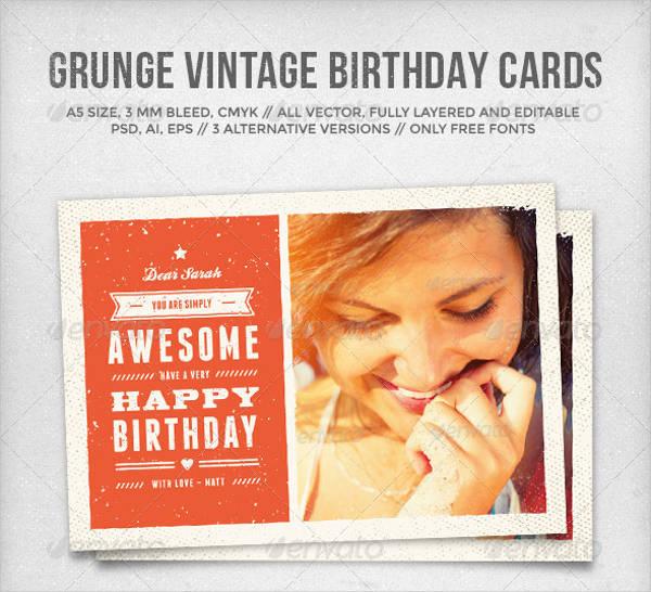 vintage printable greeting card