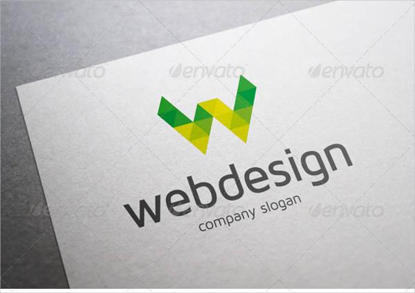 web design letter w logo