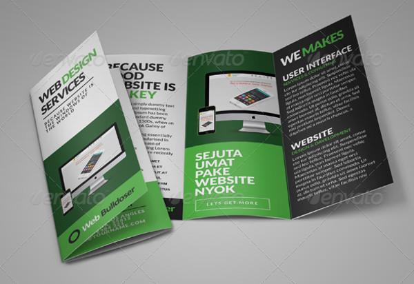 web design trifold service brochure