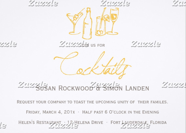 Cocktail Wedding Reception Invitation Wording: 9+ Cocktail Party Invitations