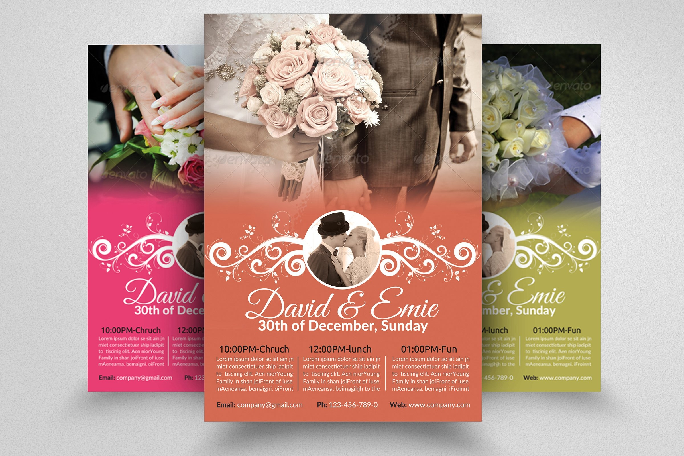 wedding invitation flyer design1