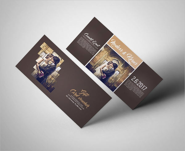 wedding invitation voucher