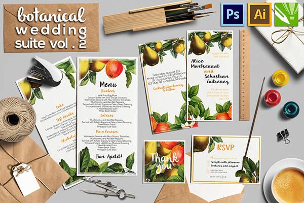 wedding menu template ready to print