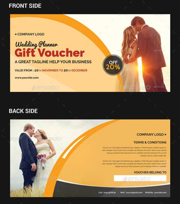 wedding planner gift voucher design