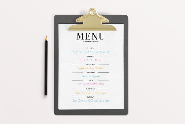Party Menu Templates