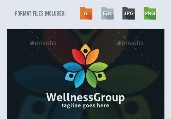 wellness group logo template