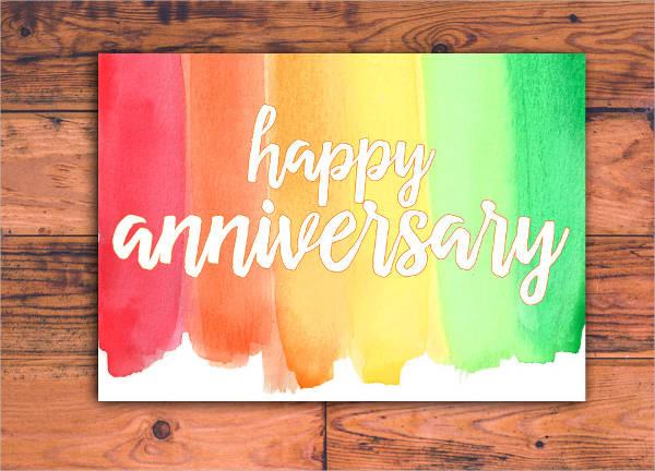 work anniversary rainbow card - Work Anniversary Cards