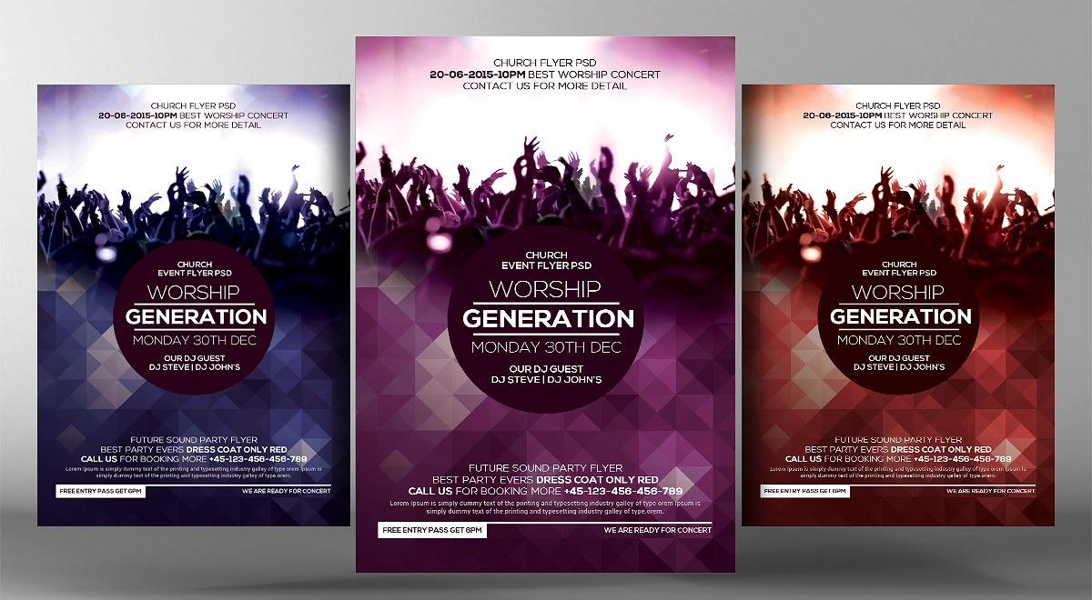 worship concert flyer