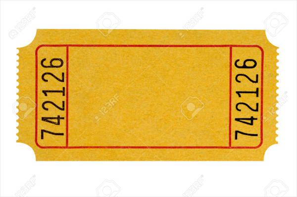 yellow blank ticket