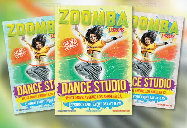 zoomba fitness flyer