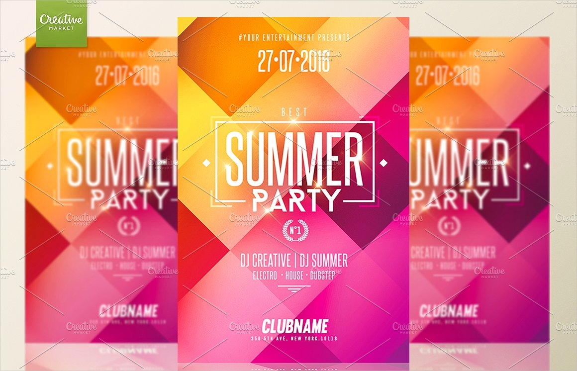 a5 summer beach party flyer