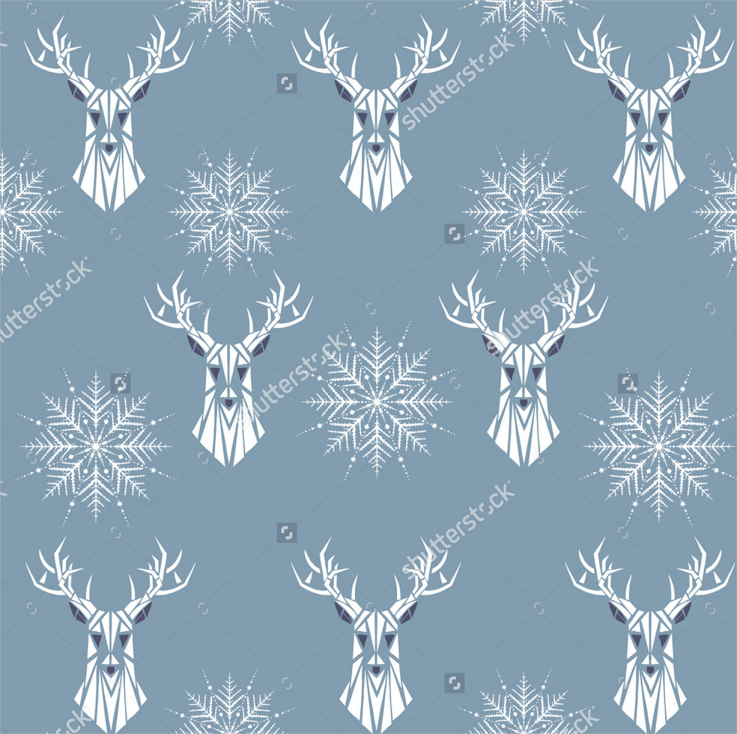 animal snowflake pattern