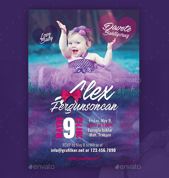 baby event postcard