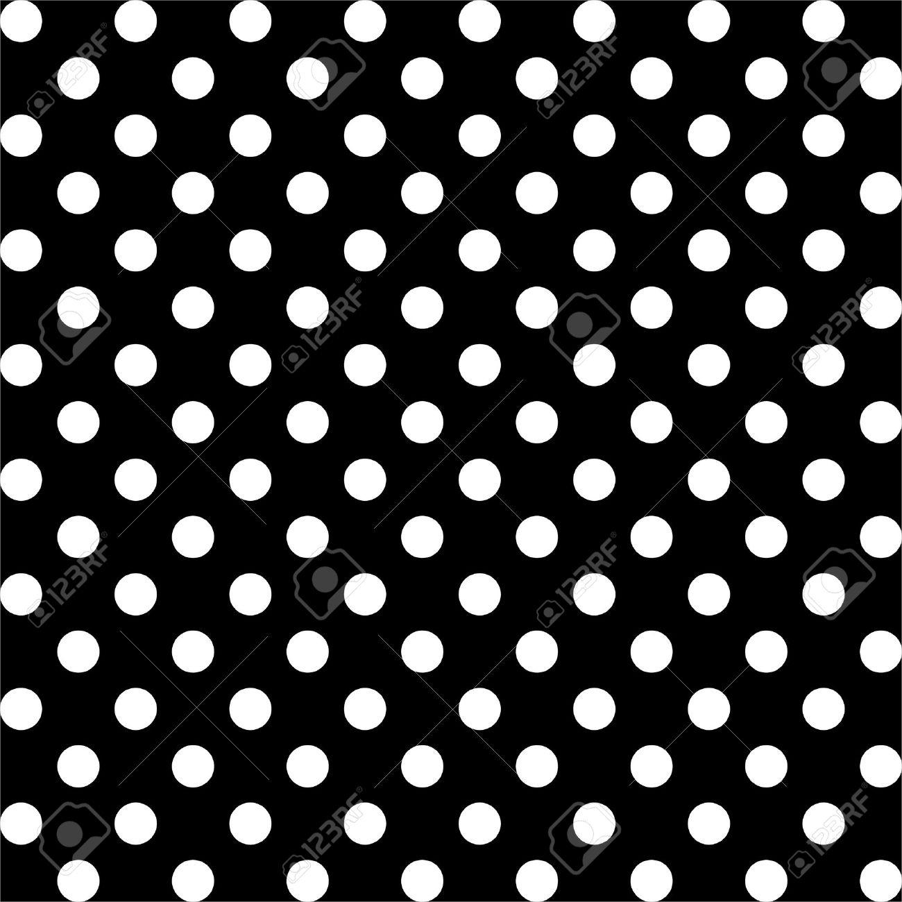 black an white polka dot