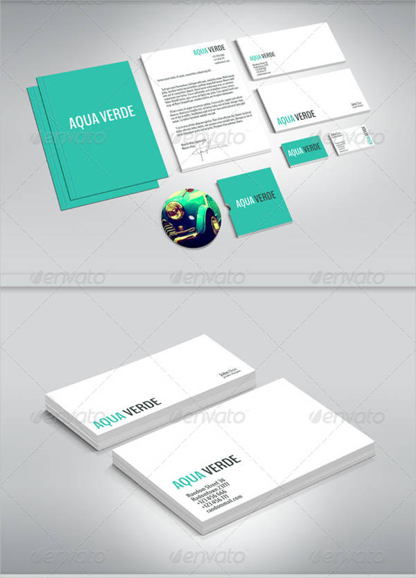 clean stationery template