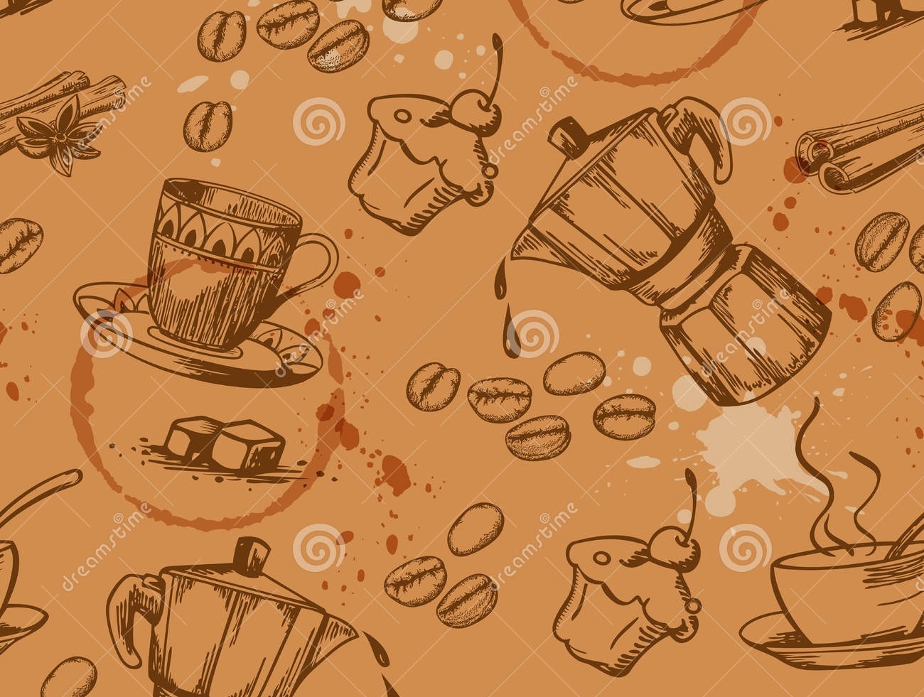 coffee vintage pattern