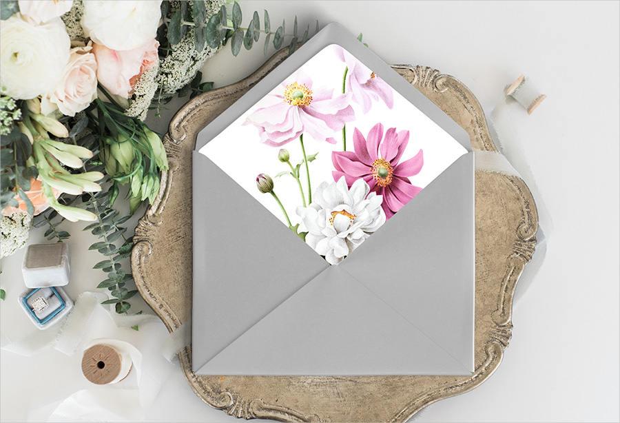 diy wedding envelope template