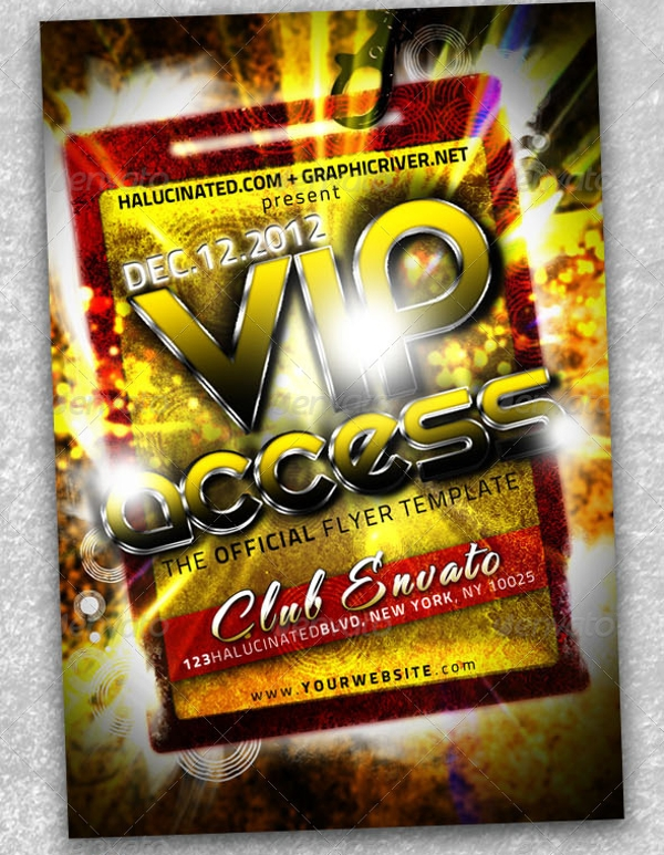 double sided party flyer template