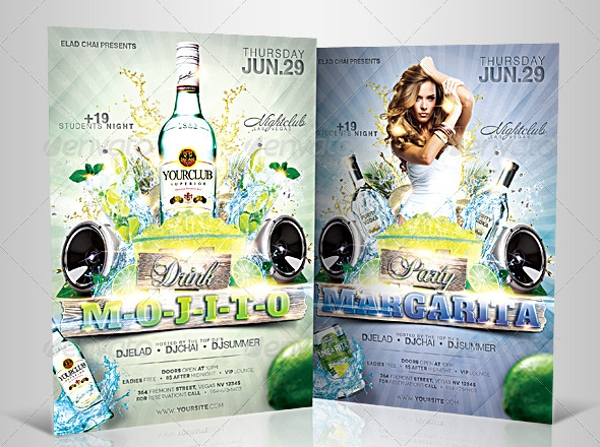 drinks event party flyer
