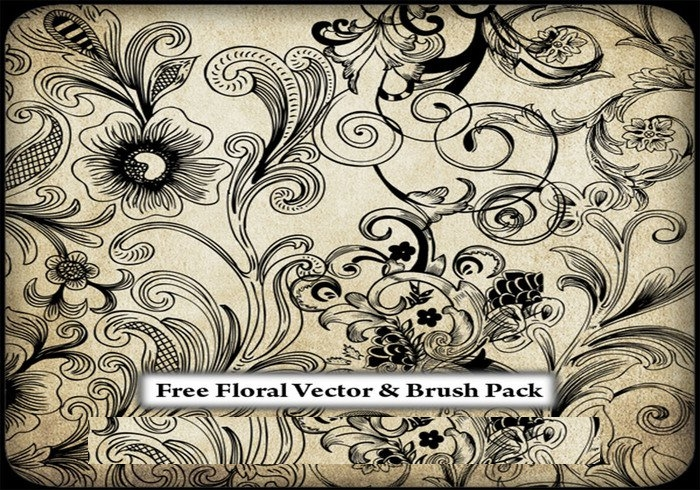elegant floral brushes photoshop