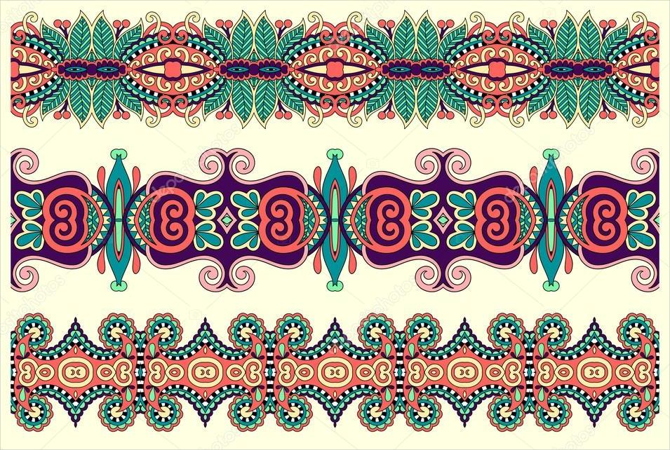 ethnic pattern stripe set