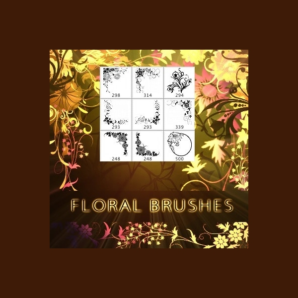 floral edge brushes photoshop