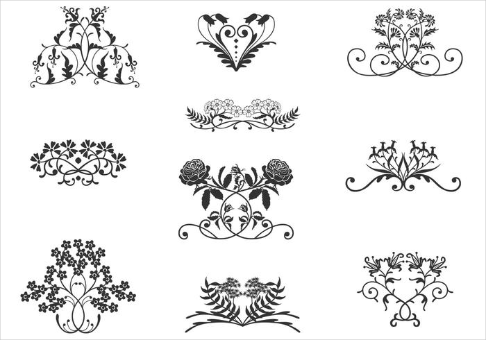 floral ornaments brushes free download