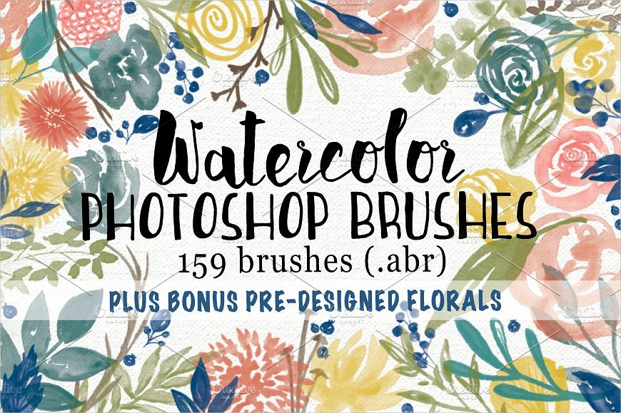 floral watercolour brushes