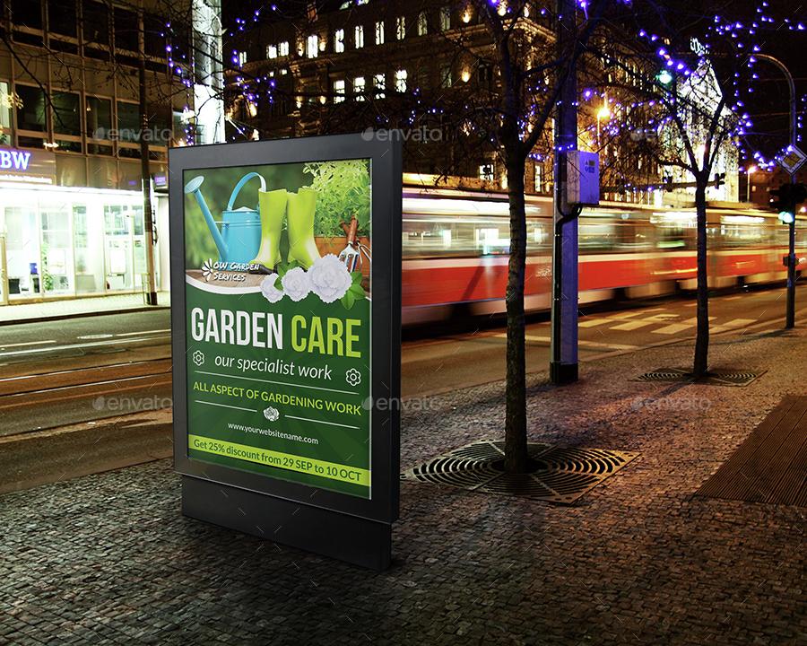 gardening billboard template