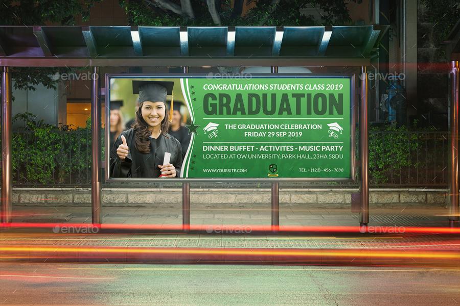 graduation billboard template
