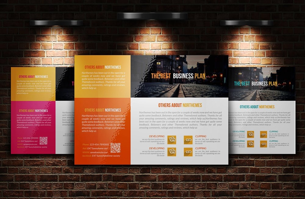graphic design agency flyer