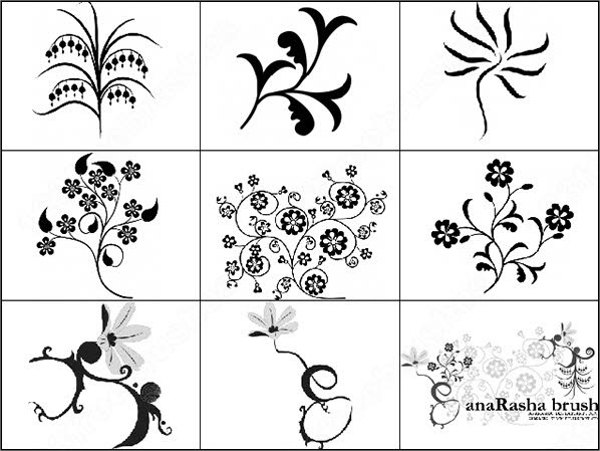 hd floral brushes photoshop