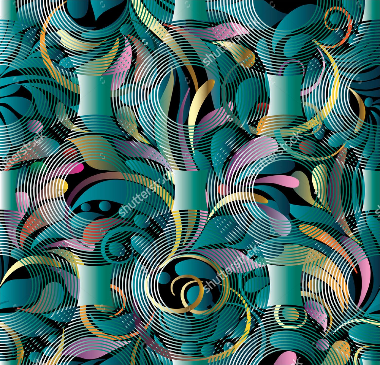 hand drawn radial swirl
