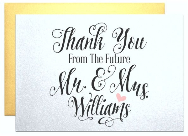 personalized engagement thank you card