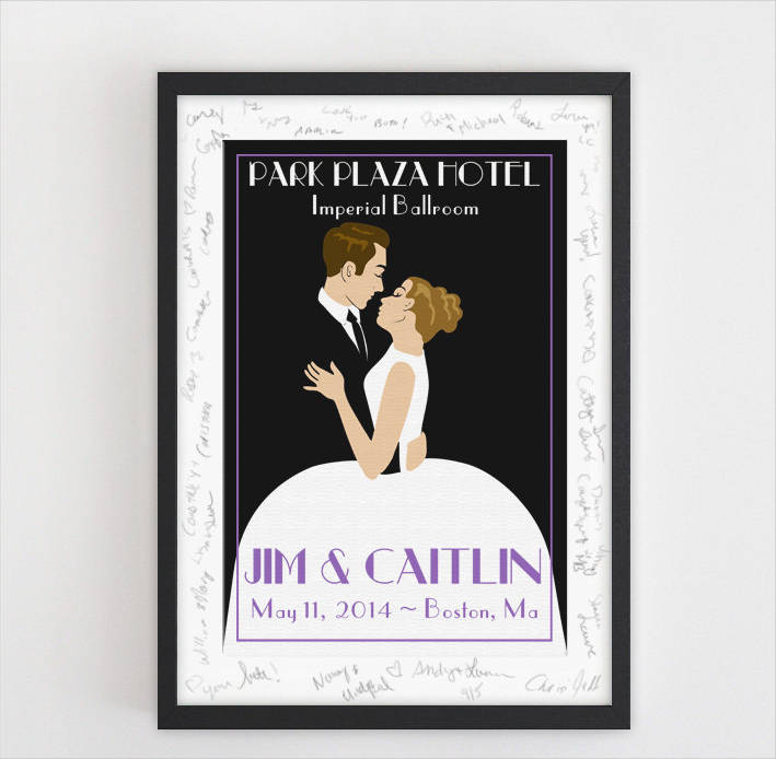 personalized wedding poster