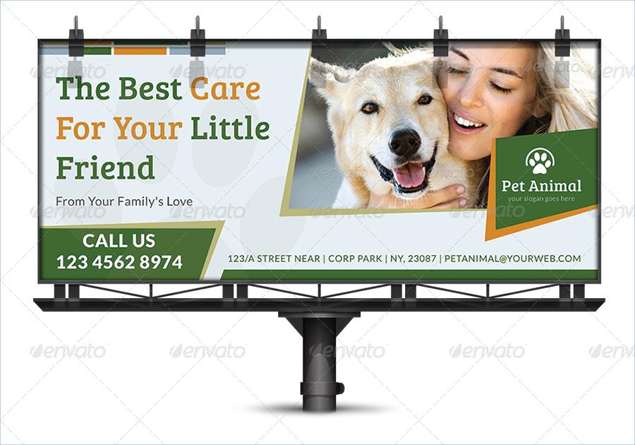 pet care billboard