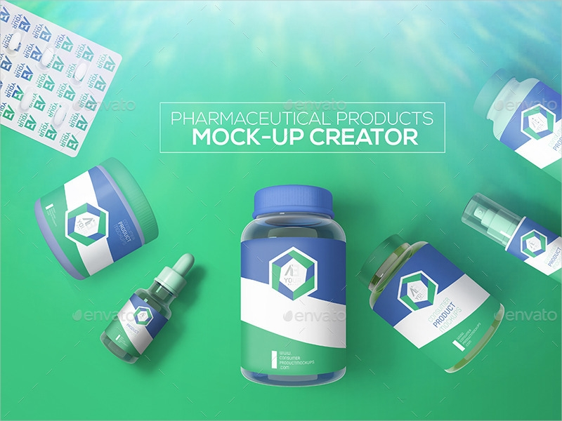 pharmaceutical products mock up