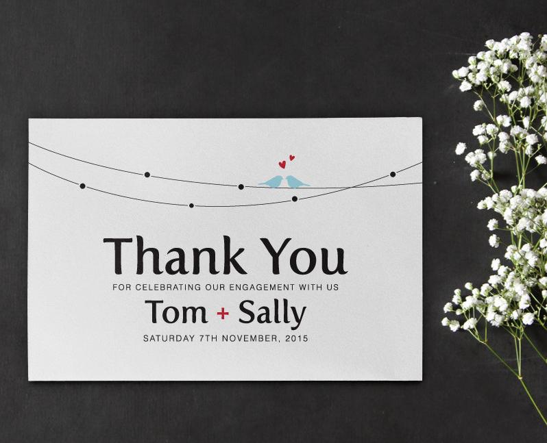 printable engagement thank you