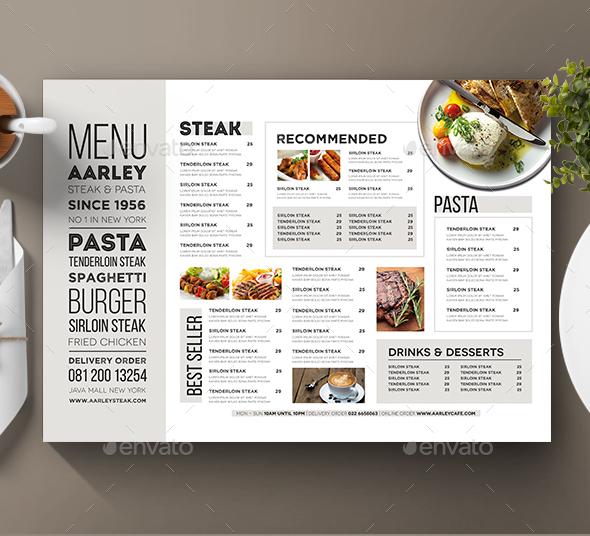 restaurant menu typography