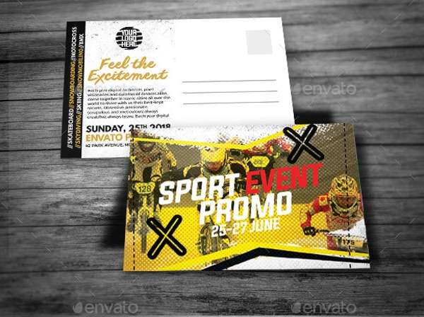 sports promo postcard