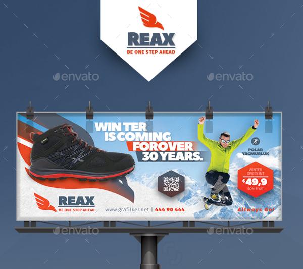 sports shop billboard