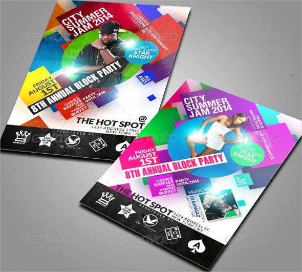 summer block party flyer template